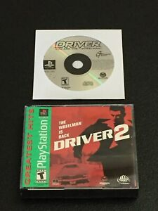 DRIVER 1 & DRIVER 2 SONY PLAYSTATION 1 PS1 BUNDLE LOT TESTED WORKING FAST SHIP!!