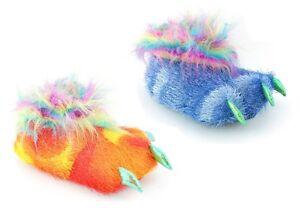 Ladies-Girls-Novedad-Acolchado-Animal-De-Peluche-Suave-divertido-de-Navidad-calcetin-Zapatillas