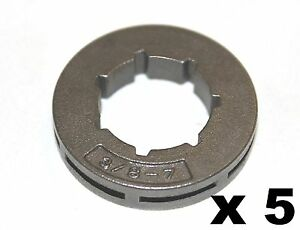5-x-CHAINSAW-CHAIN-SPROCKET-RIM-3-8-7-tooth-Small-for-Stihl-Husqvarna-amp-MORE