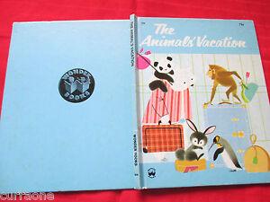 Wonder-Book-THE-ANIMALS-VACATION-hc-1980-Shel-and-Jan-Haber