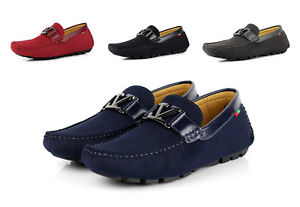 Mens-Smart-Slip-On-Driving-Shoes-Designer-Loafers-Casual-Italian-Moccasins-Size