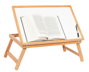 Charmant Image Is Loading Adjustable Wood Bed Tray Lap Desk Serving Table