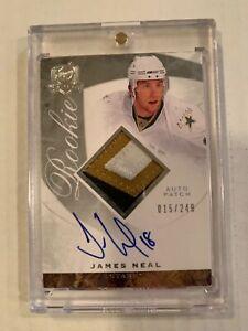 2008-09-Upper-Deck-The-Cup-James-Neal-RC-Rookie-3-color-Patch-Autograph-097-249