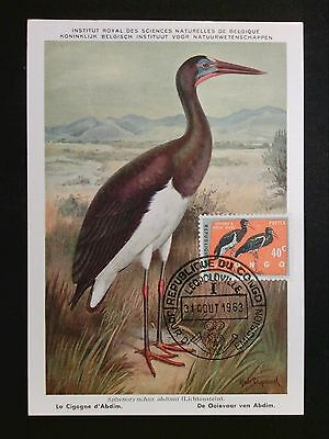 Diverse Philatelie Tiere KöStlich Ruanda Mk 1963 VÖgel Vogel Bird Birds Maximumkarte Maximum Card Mc Cm C8105