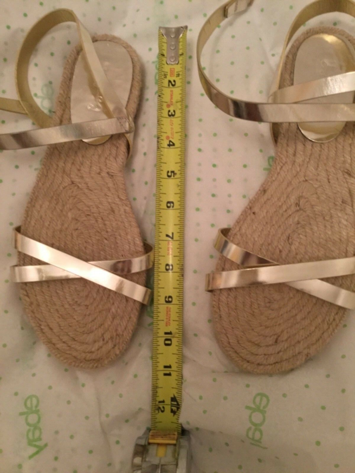 NEW Boden donna's oro Leather Jute Sole Espadrille Espadrille Espadrille Sandal - 12 ac7160