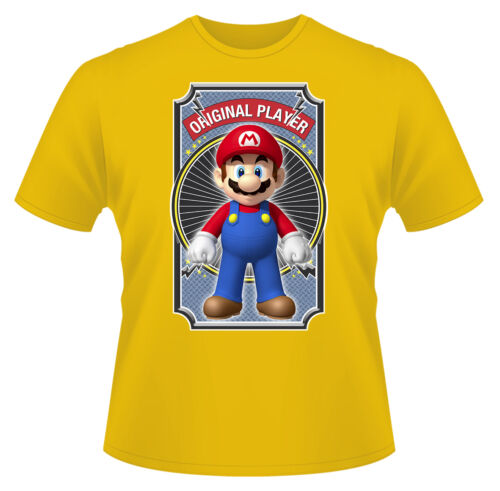 Mario Original Player T-Shirt Boys Girls Kids Age 3-15 Ideal Gift//Present