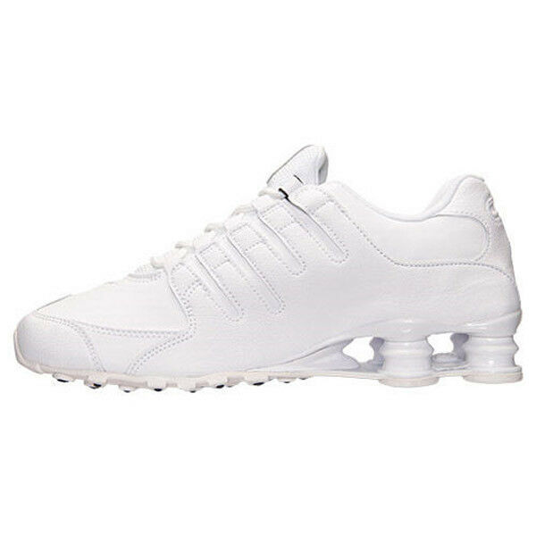 cb1a7a866db5 Classic Mens Nike Shox NZ EU Running Shoes Trainers Black   White 13 for sale  online