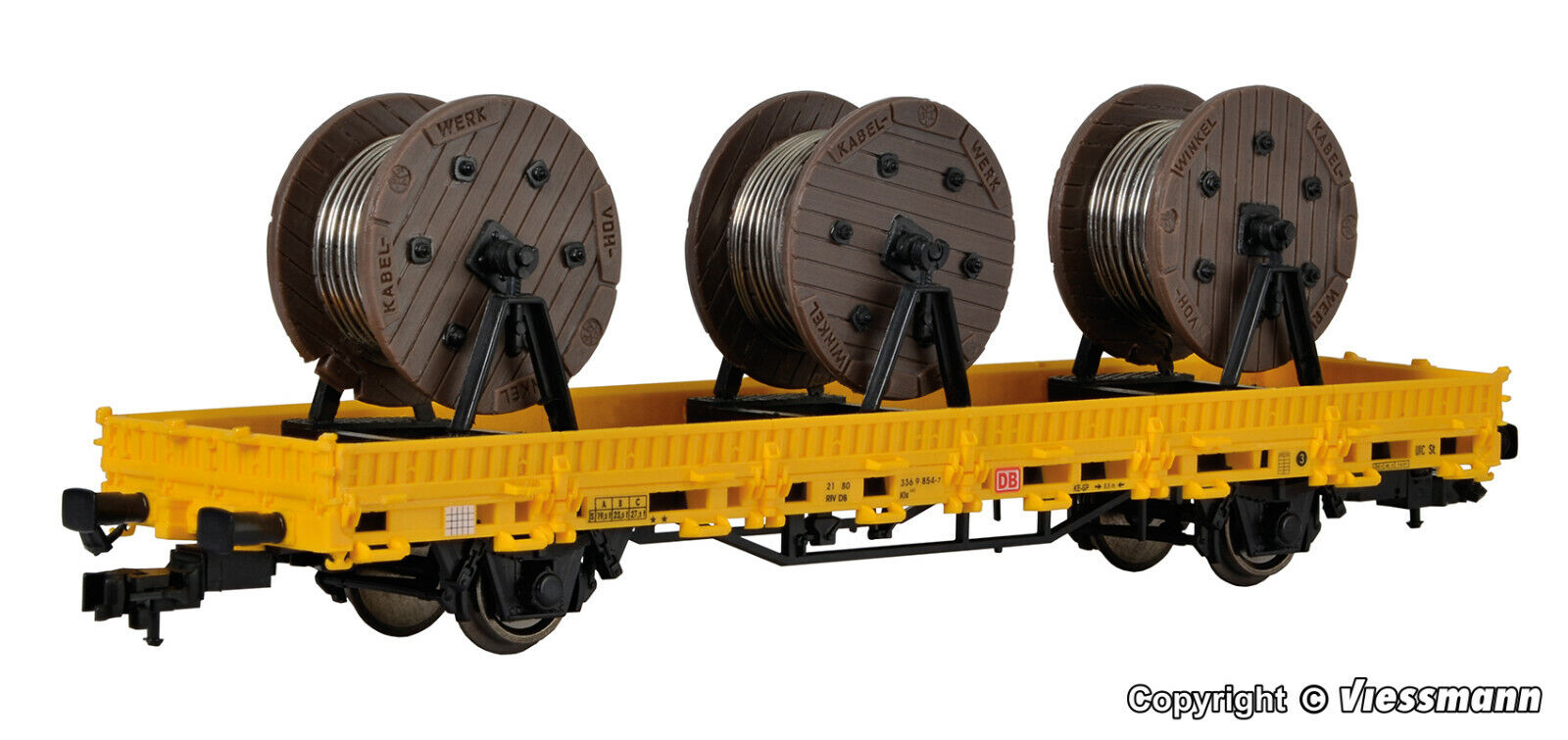Kibri h0 26269 listo modelo baja bordo Cochero gleisbau m. 3 cable roles nuevo en el embalaje original