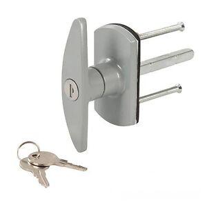 garage door lock handleT Handle Garage Door Lock  Long Spindle 2 Keys Choose Square or