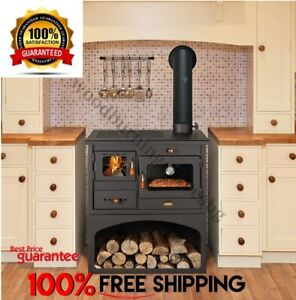 Details About Cooking Wood Burning Stove Oven Cast Iron Top Multifuel Cooker Prity 1p34 10kw