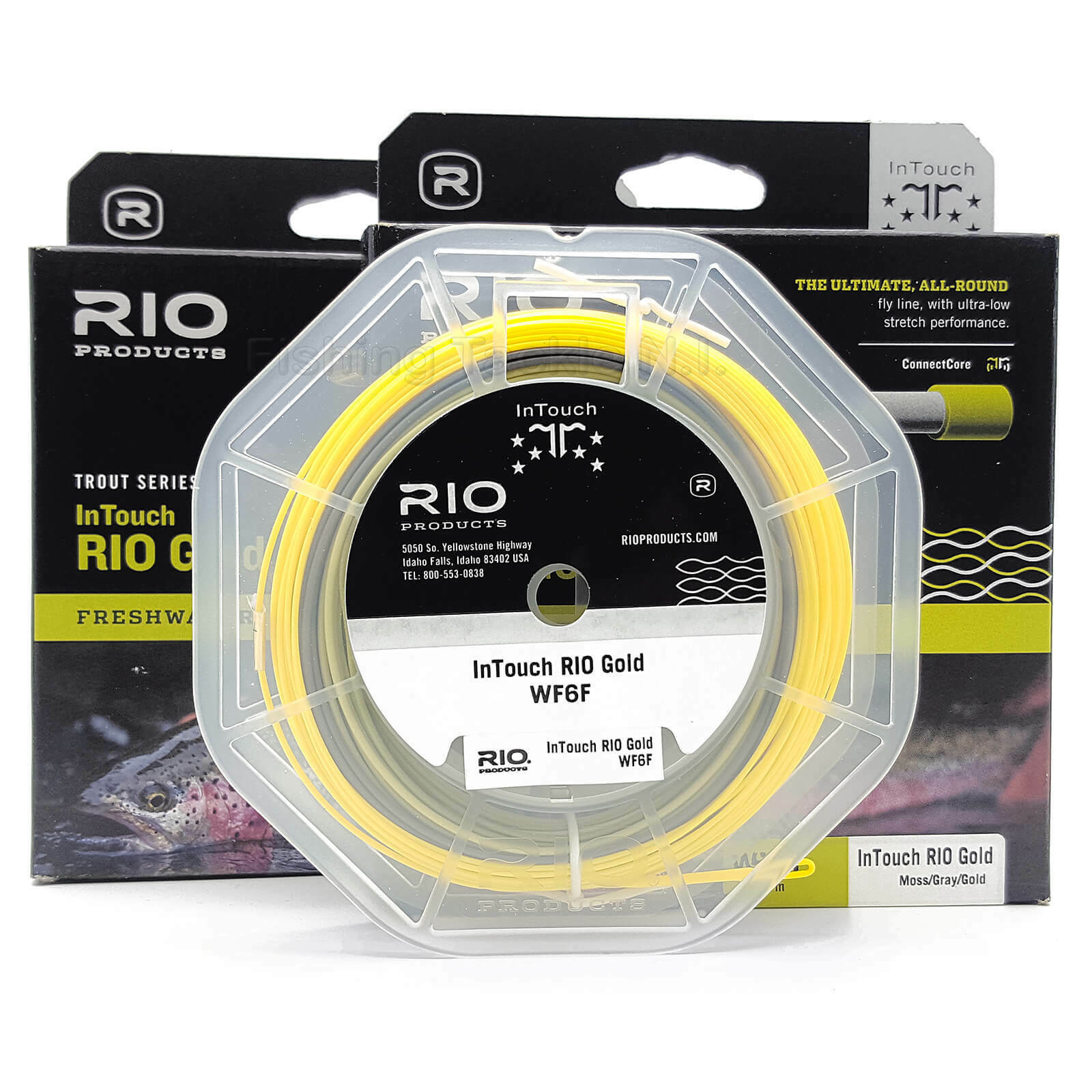 Rio gold Intouch Freshwater  Fly Fishing Line Floating Moss Grey gold WF5 WF6 WF7  in stock