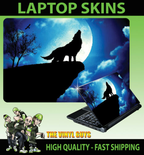 Adesivo Skin Laptop Notebook Silhouette WOLF Howl NATURA MOON Varie Taglie