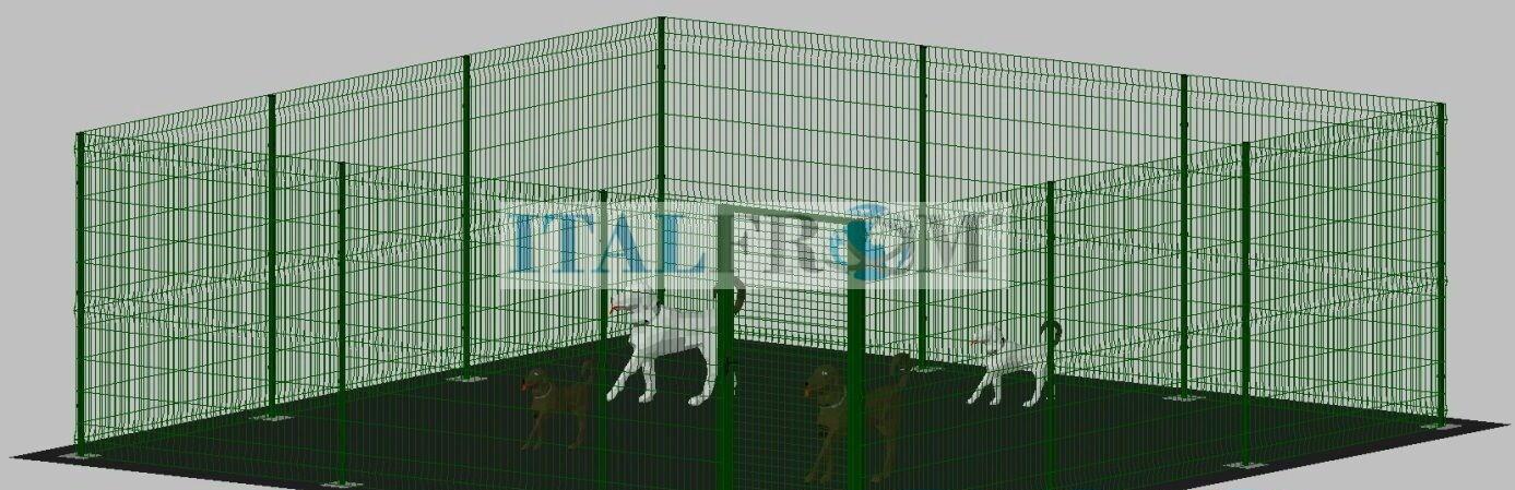 Recinto per animali cane Neonati playrun Kennel 6x6m PER CANE BOX GABBIA PER ANIMALI