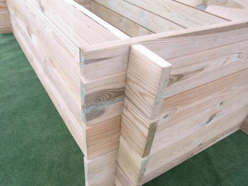 stabiler Holzkomposter Komposter Pflanzbeet Kräuterbeet Hochbeet 170 x 85 cm