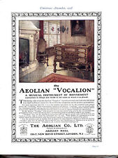 "The Aeolian ""Vocalion"".  Lovely original advert  dated 1918"