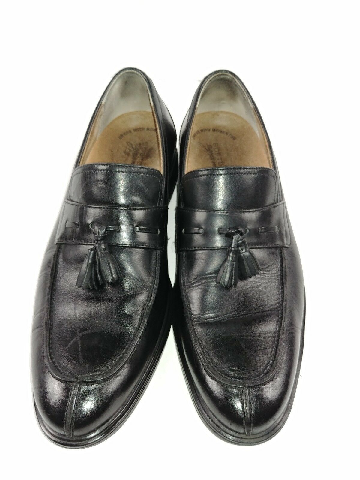 Bostonian Signia Advance Loafers Leather Size 10M Oxfords Black Leather Loafers Casual Shoes 1f4928