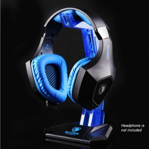 SADES Headset Stand Headphone Stand for Gaming Headset Acrylic Blue for Headset
