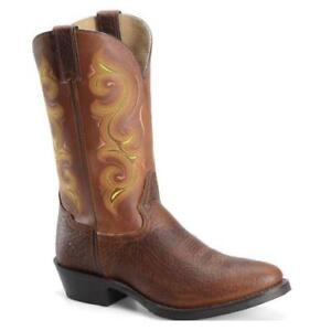 8be9a66f318 Details about Double H Men's Brown Round Toe (R) Western Boots DH4417