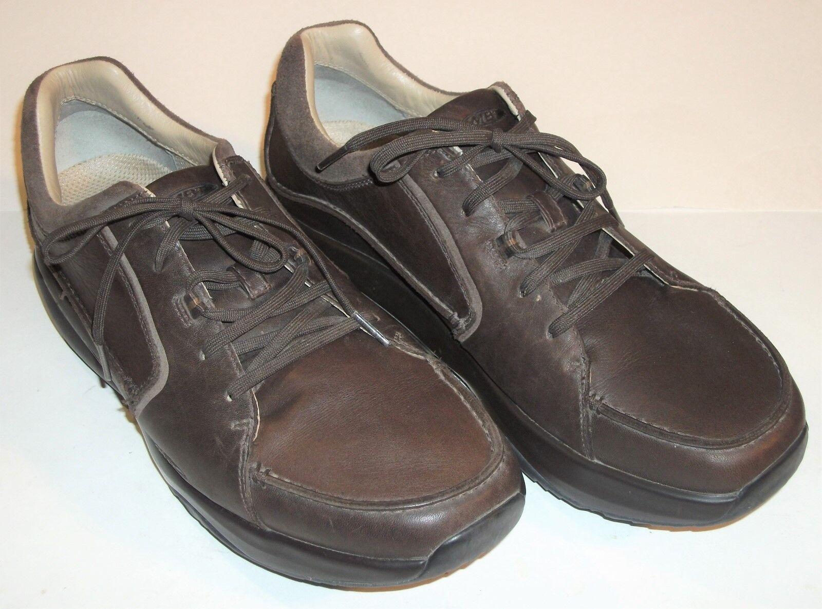 MBT Fanaka Men Brown Leather Oxford Walking Work shoes Rocker 400223-01 Size 12