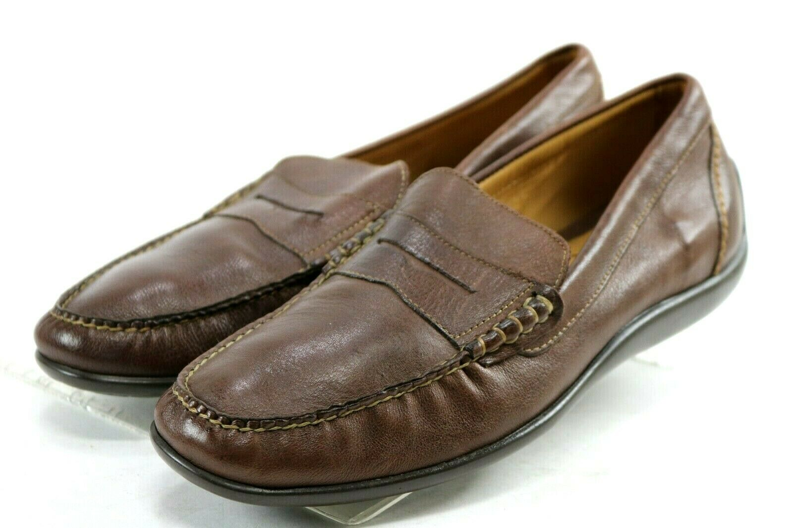 Martin Dingman Penny Loafer  Men's Slip-On shoes Size 9 Brown Leather