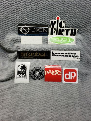Drum//Percussion Sticker LOT/</>Ddrum/</>Pearl/</>Sabian/</>Vic Firth