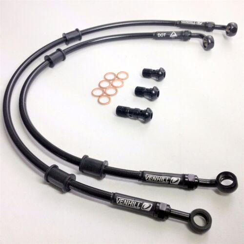HONDA CX500 TURBO 1982 VENHILL stainless steel braided brake lines hoses Race