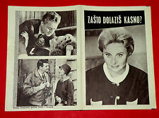 WHY DO YOU COME SO LATE 1956 FRENCH MICHELE MORGAN DECOIN  EXYU MOVIE PROGRAM