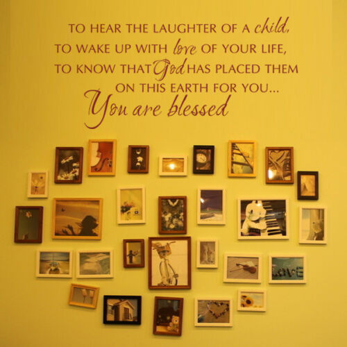 Bible Verse Wall Decal You Are Blessed Family Love Life Quote Room Vinyl Decor
