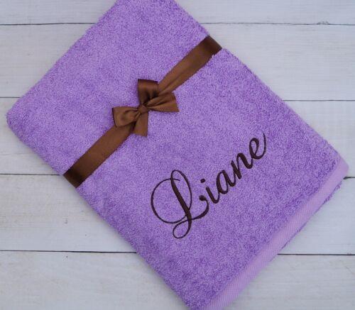 ★ Handtuch mit Namen bestickt ★ Badetuch ★  Weihnachten ★ Geschenk ★ 550 g//m2 ★