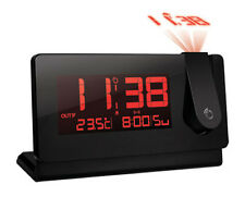 See Time on Ceiling Projector Alarm Clock w/ Snooze Indoor Outdoor Temperature