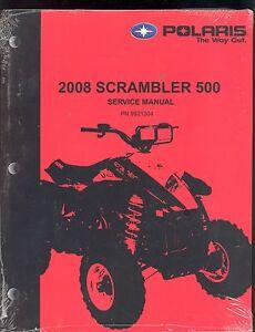 2008 polaris scrambler 500 service manual pn 9921304 ebay rh ebay com 2006 Polaris Scrambler 2006 Polaris Scrambler