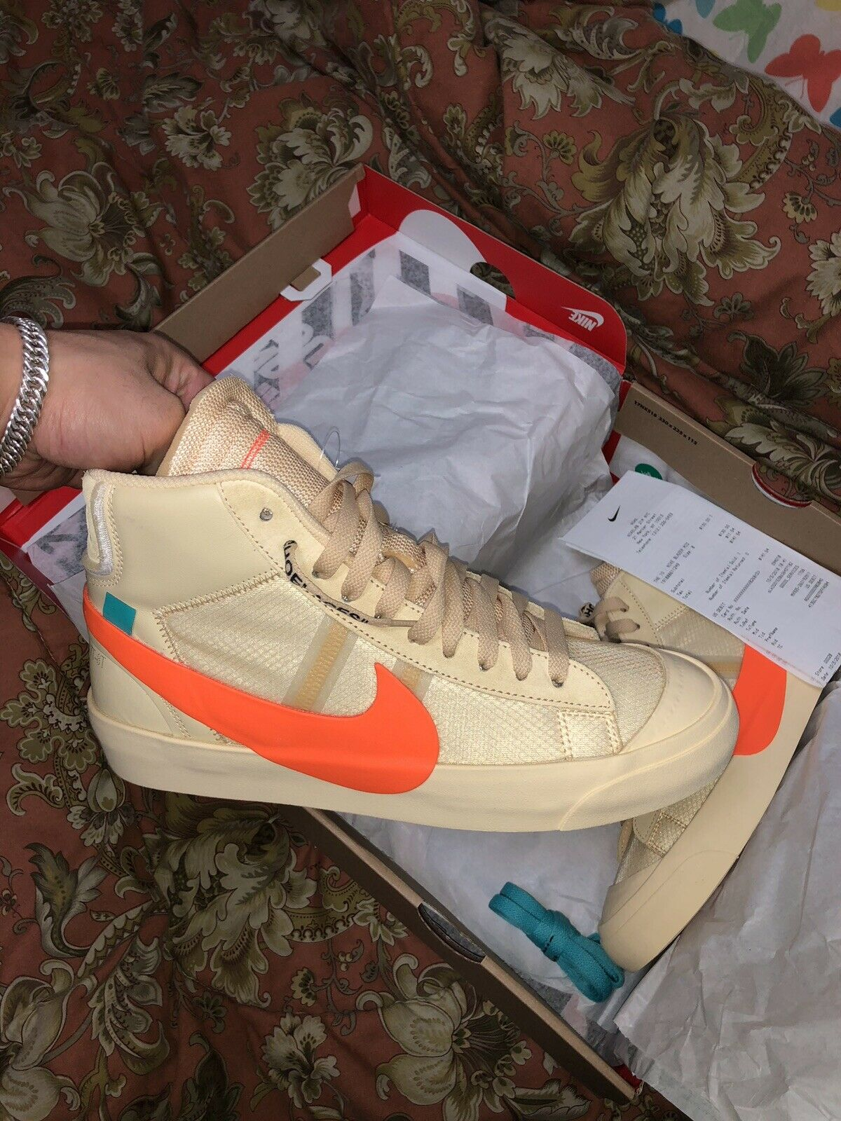 Nike Off-White Ten Blazer Mid All Hallows Eve Van orange Mens Size 8 Deadstock