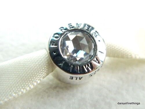 85e3b7e4c Authentic PANDORA Sterling Silver Family Forever Charm 791884CZ for sale  online | eBay