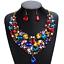 Fashion-Women-Pendant-Crystal-Choker-Chunky-Statement-Chain-Bib-Necklace-Jewelry thumbnail 6