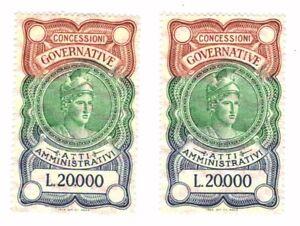 2-MARCHE-DA-BOLLO-LIRE-20000-GOMMATE-MA-IN-OTTIME-CONDIZIONI-NON-COMUNI