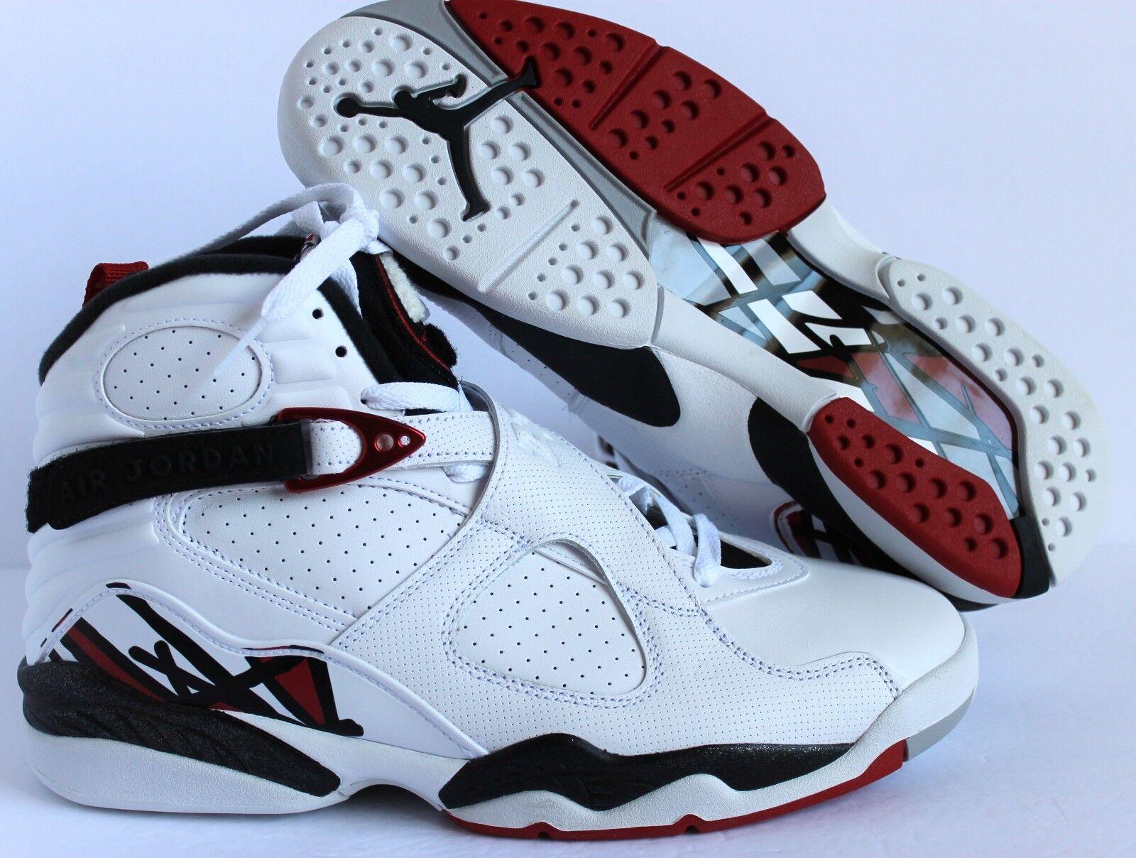 Nike air jordan 8 retrò white-red-wolf grey hare sz 11 alternativo.