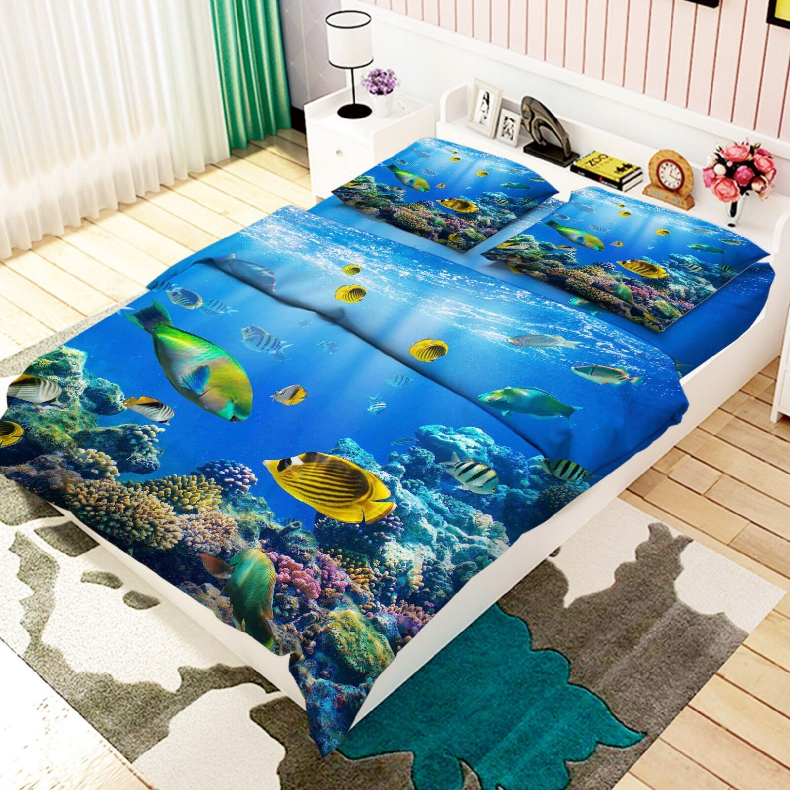 3D Ocean Natural 688 Bed Pillowcases Quilt Duvet Cover Set Single King UK Lemon