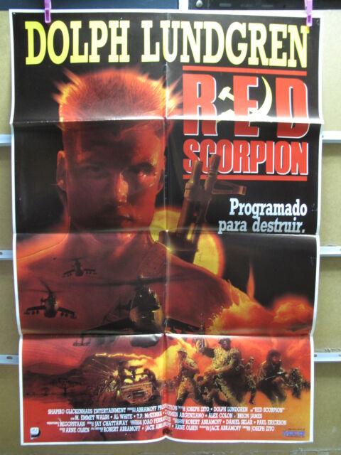 RED SCORPION Movie POSTER 27x40 B Dolph Lundgren M. Emmet