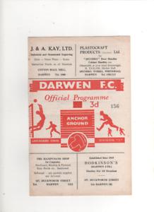 195758 DARWEN v ACCRINGTON STANLEY Reserves 9th November 1957 - Accrington, United Kingdom - 195758 DARWEN v ACCRINGTON STANLEY Reserves 9th November 1957 - Accrington, United Kingdom