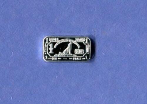 Silver Wolf .999 Fine Bar One Gram