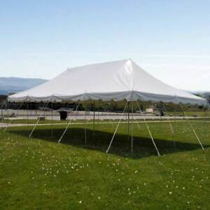 20x40-Pole-Tent-Party-Wedding-Canopy-White-Commercial-Light-Weight-Vinyl-Marquee