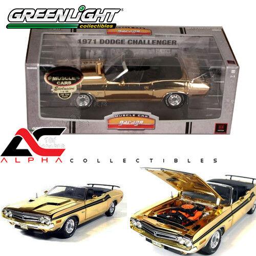 Grünlight 50819 24k Gold 1,18 1971 herausforderer cabrio chase druckguss l. e 66