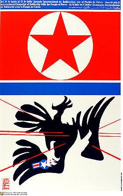 Political Cuban POSTER.KOREA.Anti imperialist flag.as33.Revolution Art Design