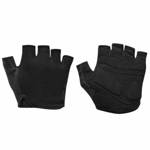 Brand New Classic Black Unisex Fingerless Cycling Gloves Three Sizes Road Mtb