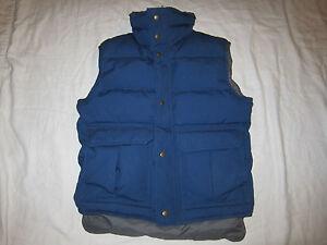 Rei Goose Down Puffer Vest Men S S Womens M Navy Blue W