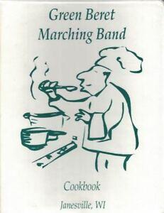 Green-Beret-Marching-Band-Cookbook-Janesville-WI-1996-196pg-3-Ring-Binder-Book