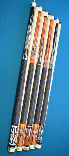 LOT OF 5 POOL CUES New 58/'/' Billiards Cue Stick #F Pool Cue Stick PLUS SHIPPING