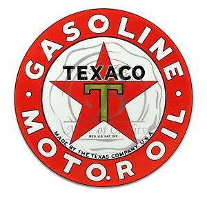 Vintage-Design-Sign-Metal-Decor-Gas-and-Oil-Sign-Texaco-Motor-Oil-and-Gasoline