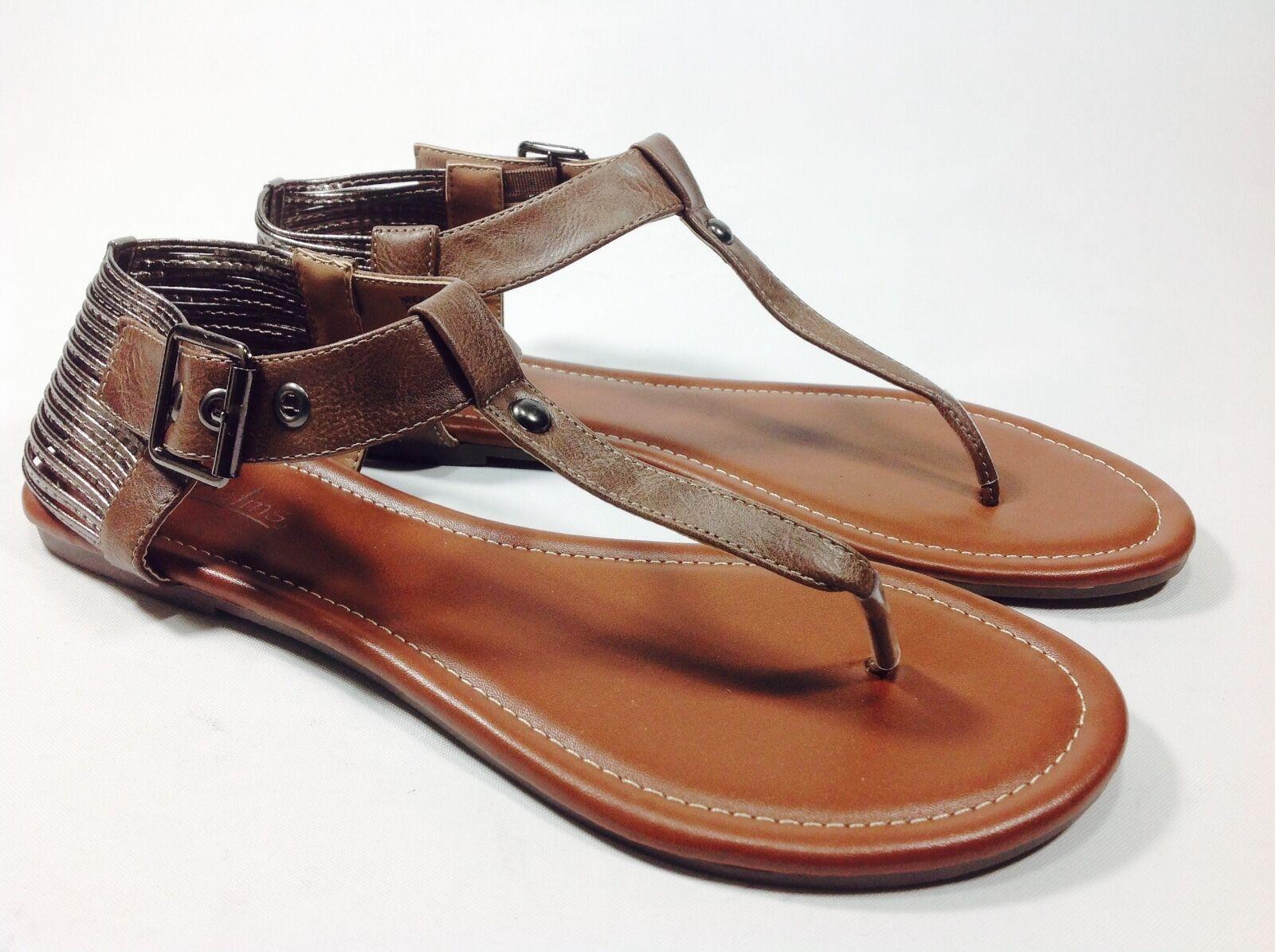 Large Size Ladies  gold White Pewter Tan Sandals Size UK10 UK11 PLUS SIZE