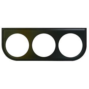 Universal Metal Black Under Dash Triple Gauge Mounting Panel 2-1/16 Inch